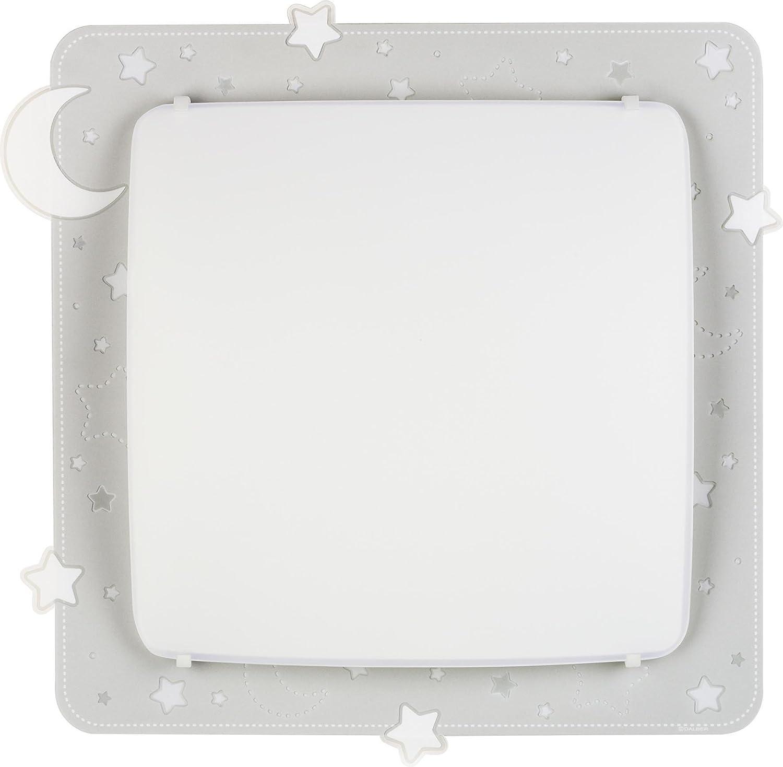Dalber Decken//Wandlampe in Grau grey 41.5 x 41 x 75 cm Metall