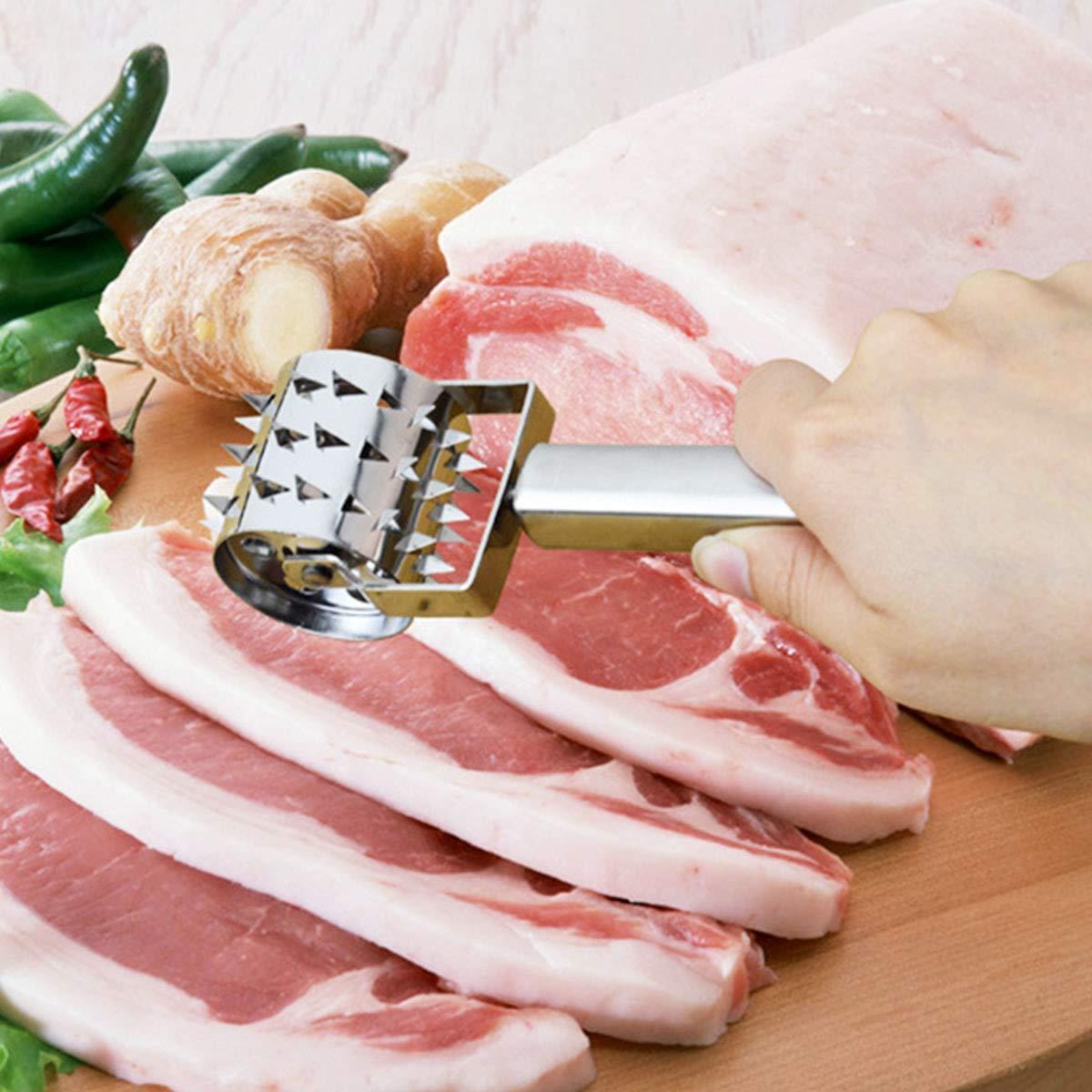 YIJIA Stainless Steel Pork Steak Chop Meat Needle Roller