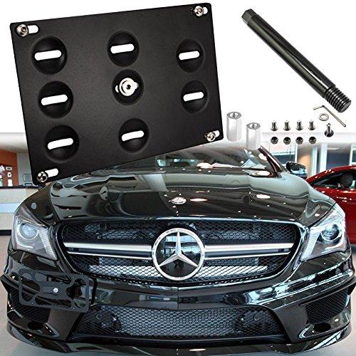 - Xotic Tech License Plate Mounting Bumper Tow Hook Bracket for Mercedes GLK GLC GLE Black