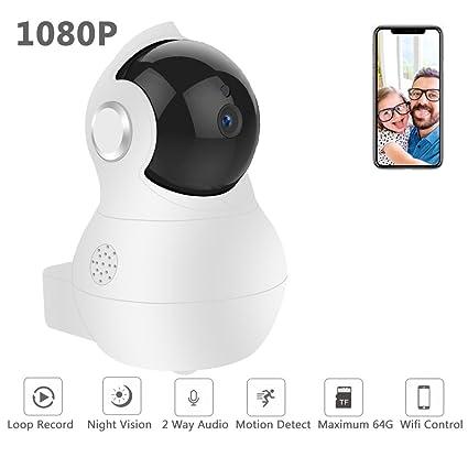 Volmia 1080P HD IP cámara 2 Way Audio Cámara de Vigilancia Cámara de Seguridad con Almacenamiento