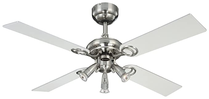 Westinghouse pearl 105 cm42 inches ceiling fans stainless steel westinghouse pearl 105 cm42 inches ceiling fans stainless steel light maple aloadofball Images