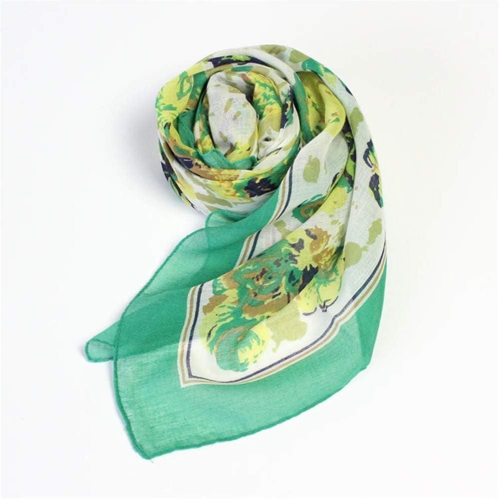 Pale Green Silk Scarf