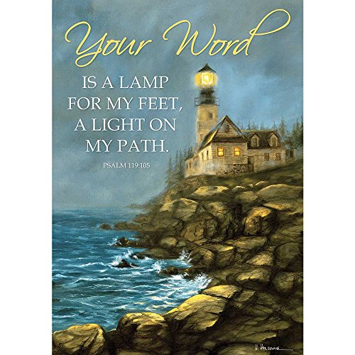 - Your Word Lighthouse Rocky Seaside 13 x 18 Rectangular Small Garden Flag