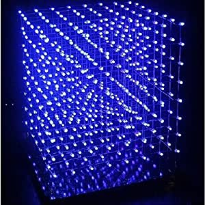 Yongse DIY Cube8 8x8x8 kit flash LED azul Creative Learning Kit