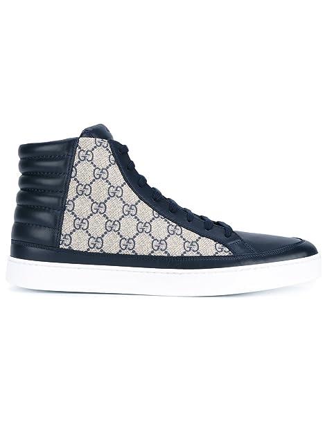 Gucci Hombre 433717A9LN04069 Beige/Azul PVC Zapatillas Altas: Amazon.es: Zapatos y complementos
