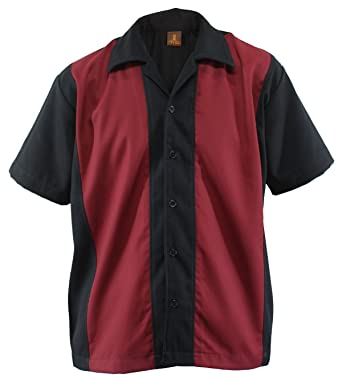 83766fe9561ac1 Bowling Shirt Worker Hemd Rockabilly Two Tone Gabardine Lounge Fifties  Vintage Retro Double Panel (M