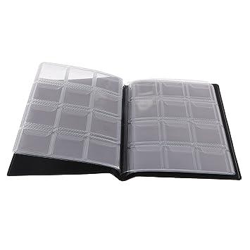 73dd98753c Mini Centesimo Tasca Soldi Moneta Stoccaggio Album Libro Di 120 Titolari Collezione  Nero: Amazon.it: Giochi e giocattoli