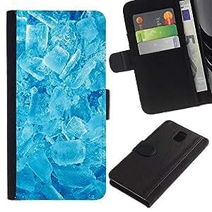All Phone Most Case / Oferta Especial Cáscara Funda de cuero Monedero Cubierta de proteccion Caso / Wallet Case for Samsung Galaxy Note 3 III // Winter Cool Ice Crystals Refreshing Snow