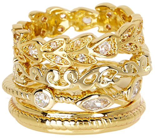 CZ Wholesale Gemstone Jewelry Stackable Ring Set (Size 11)