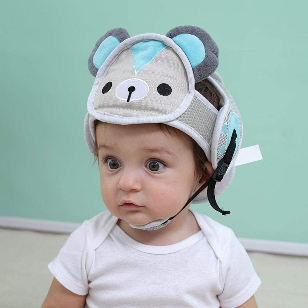KOBWA Baby Safety Headguard Adjustable Infant Safety Helmet Cute Protective Harnesses Cap Breathable for Toddlers Children Learn to Walk and Crawl