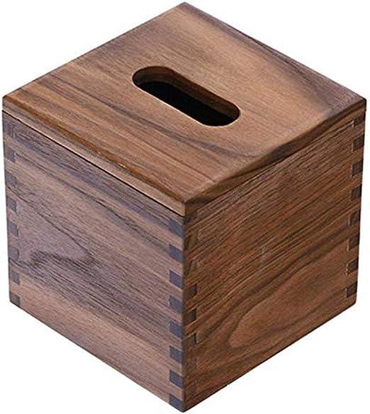 Qilo Retro Caja de Madera del Cubo de Tejidos for Papel estándar y Kleenex Cajas Perfecto for decoupage, Almacenamiento y decoración (Brown): Amazon.es: Hogar