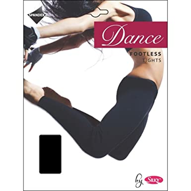 96ed616cb89e2 SILKY FOOTLESS DANCE TIGHTS BLACK Adult Sizes 10% Spandex (Large): Amazon.co .uk: Clothing