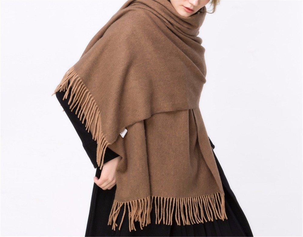 DIDIDD Sciarpa-inverno scialle giacca sciarpa donna continentale ispessimento sciarpa,D