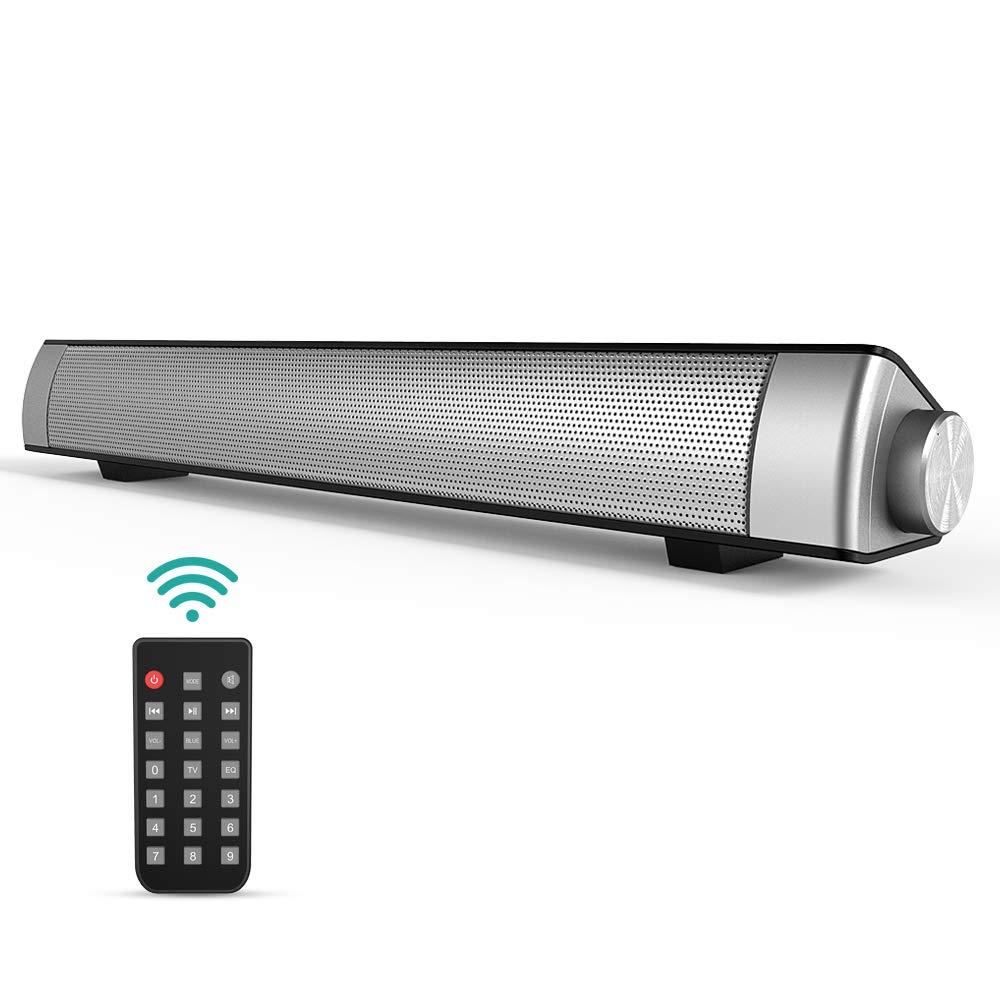 Barra de Sonido, GIARIDE Bluetooth 4.1 Altavoz con Cable e inalámbrico Teatro en casa TV Altavoz Envolvente con Control Remoto, 3.5 mm Aux, Ranura para Tarjeta TF para PC, Tabletas, Teléfono Celular