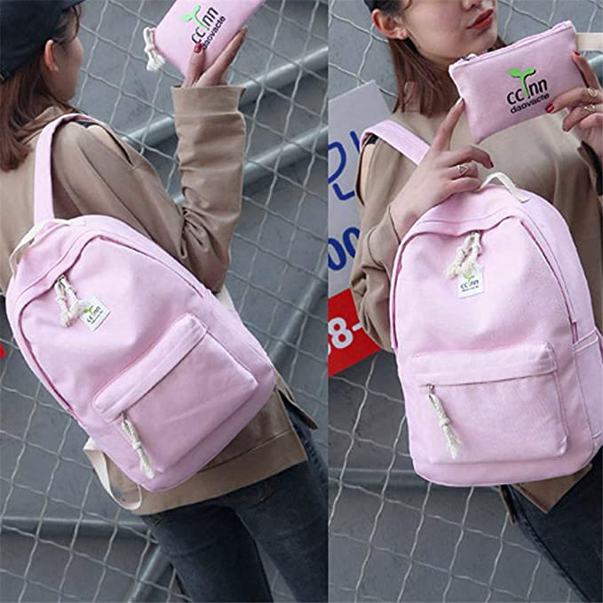 Amazon.com | Backpacks Shoulder Bag Women 2 Sets Backpack Women Preppy Style Women Backpack School Bags Teenage Female Black | Kids Backpacks