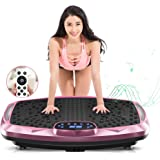 NIMTO Vibration Plate Exercise Machine Whole Body Workout Vibration Fitness Platform for Home Fitness & Weight Loss + BT + Re