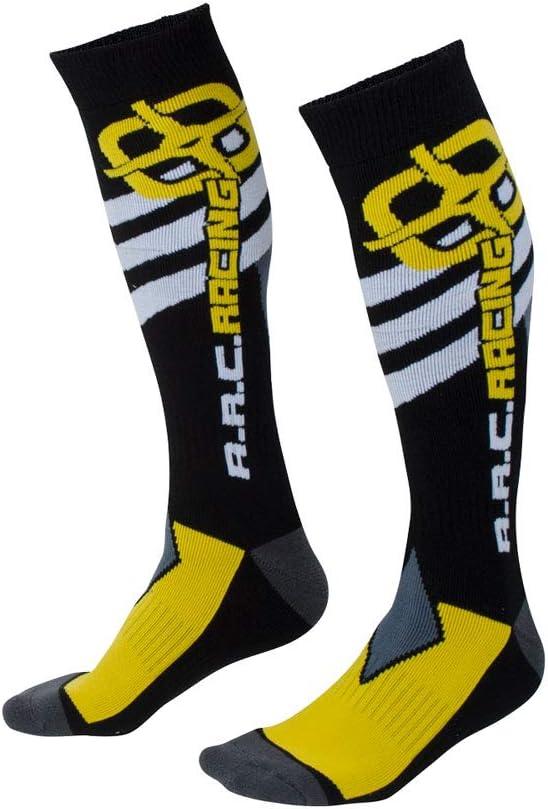 Moto Socks Size 10-13 Black//Yellow A.R.C