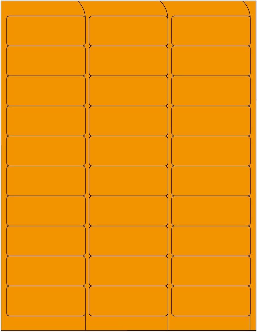 30 per Sheet Permanent Adhesive Compulabel 311207 Fluorescent Orange Address Labels for Laser Printers 2 5//8 x 1 Inch 100 Sheets per Carton