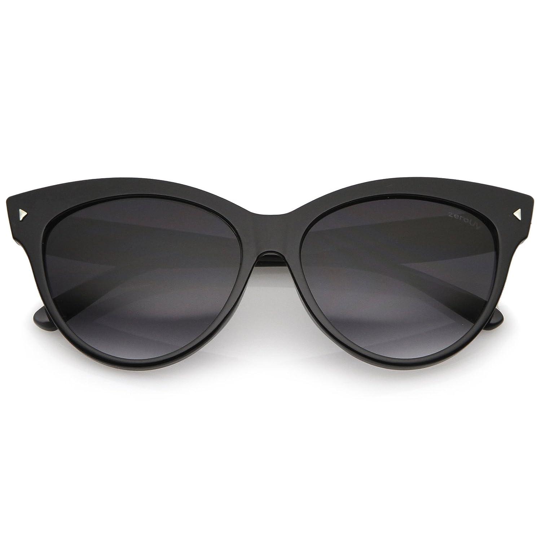 5ab2d2edb724 Amazon.com: Oversize Vintage Mod Womens Fashion Cat Eye Sunglasses (Black)  59mm: Clothing