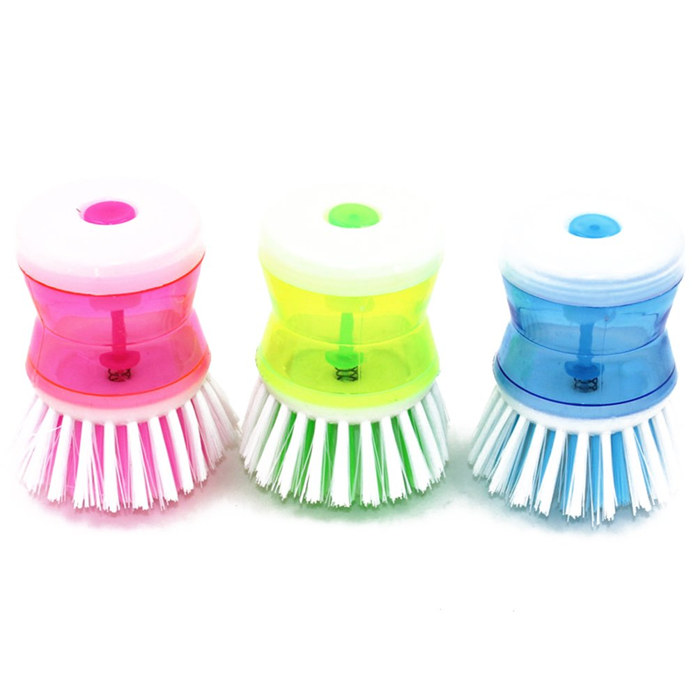 SMYLLS self-dispensingポットブラシ洗剤キッチンブラシ利便性ポットDish Bowl Cleaner LE B018XAFSXW 3セット