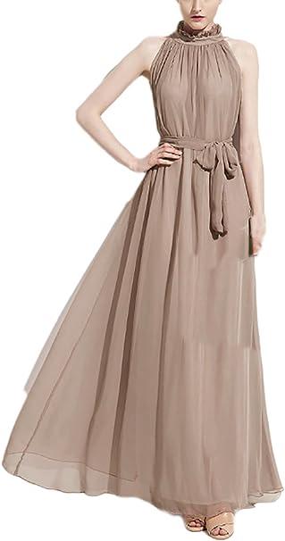 Amato Donna Vestiti Lunghi Eleganti da Cerimonia Estivi Chiffon delle OQ75