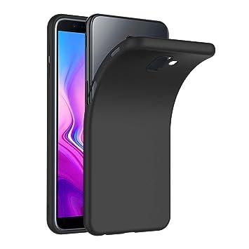 AICEK Funda Samsung Galaxy J6 Plus, Negro Silicona Fundas para Samsung Galaxy J6+ Carcasa Galaxy J6 Plus Negro Silicona Funda Case (6,0 Pulgadas)