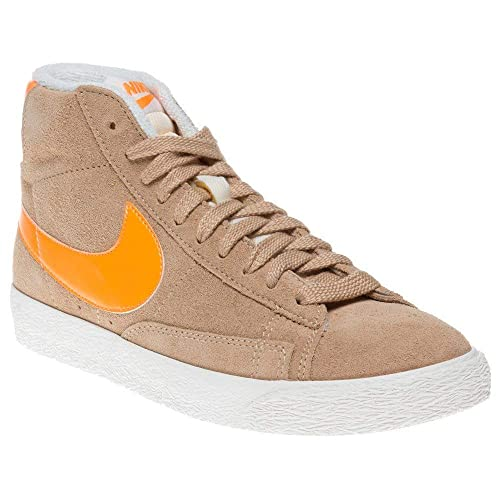 Cheap 518171 603 Nike Blazer MID suede VNTG orange women