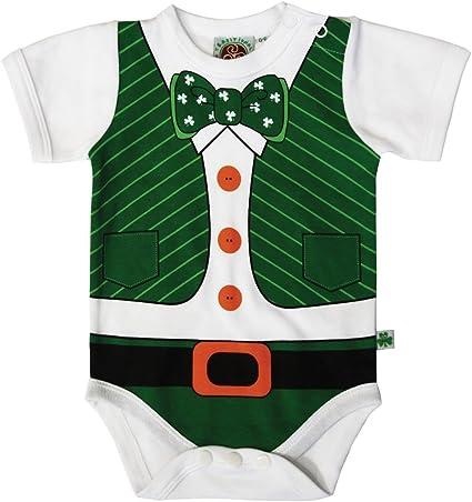 Traditional Craft Full Leprechaun Print Babies Vest