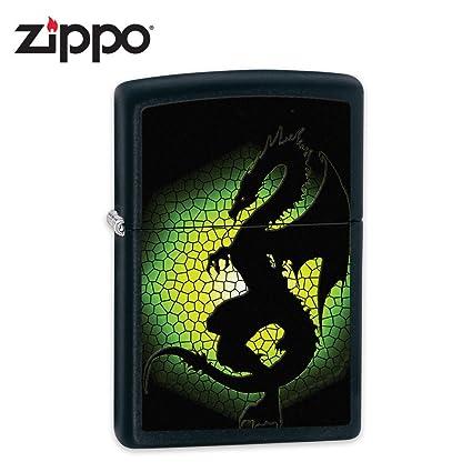 Amazon.com: Zippo BS Tríptico Dragon 3 Negro Mate Encendedor ...