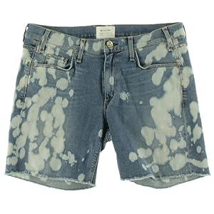 McGuire Denim Womens Mrs Robinson Denim Acid Wash Cutoff Shorts