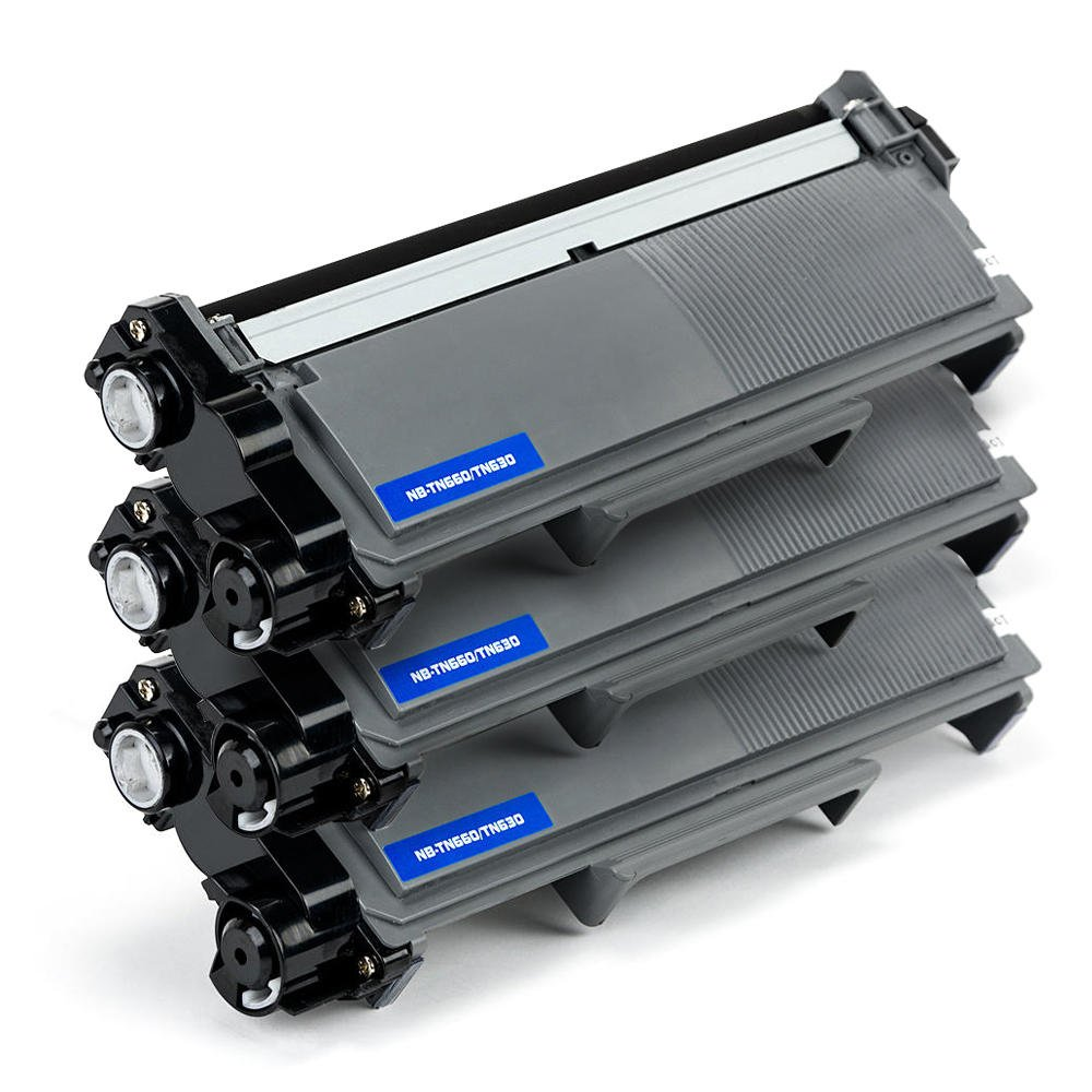 3 Pack Save on Many Compatible Brother TN-660 TN660 / TN630 TN-630 Black High Yield BK Toner Cartridges for DCP-L2520DW, DCP-L2540DW, HL-L2300D, HL-L2305W, HL-L2320D, HL-L2340DW, HL-L2360DW, HL-L2380DW, MFC-L2680W, MFC-L2700DW, MFC-L2705DW, MFC-L2707DW, MF