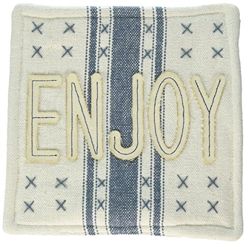 Mud Pie 4264563E Grain Sack Pot Holder, Blue by Mud Pie