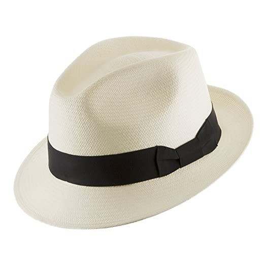b880ee0e730 Classico Trilby Snap Brim Fedora Straw Panama Hat Handwoven in Ecuador 7 1 8