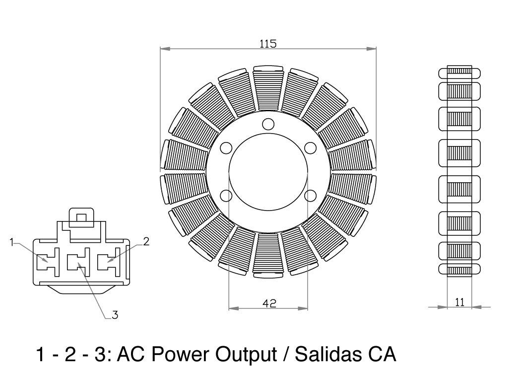 Motoplat 13000 Stator for Honda CBR1000RR OEM Repl.#31120-MEL-305