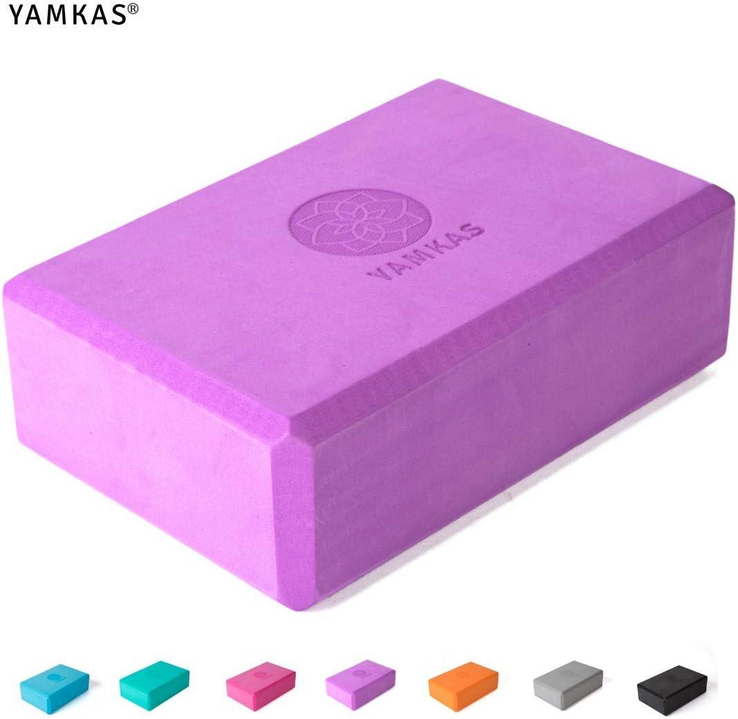 Bloc de Yoga en Mousse EVA de Haute Densit/é Yoga Block Cube pour Pilates Yamkas Brique Yoga