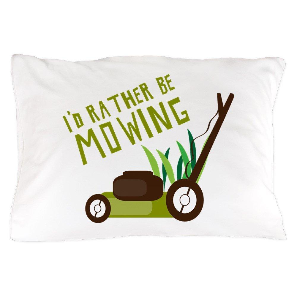 CafePress Rather Be Mowing Standard Size Pillow Case, 20''x30'' Pillow Cover, Unique Pillow Slip