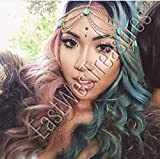 EWT Arabian Egyptian Goddess Princess gold and turquoise head hair chain accessory