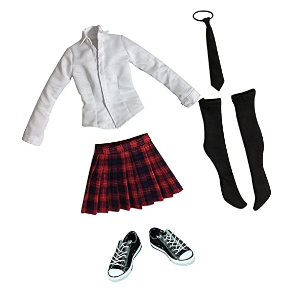Amazon.es: Homyl 1/6 Unifome de Escolar Traje de Cosplay de Anime ...