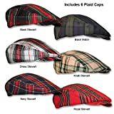 Ladies Plaid Golf Caps, newsboy Style In 6 Various Patterns by GolfKnickers.com …