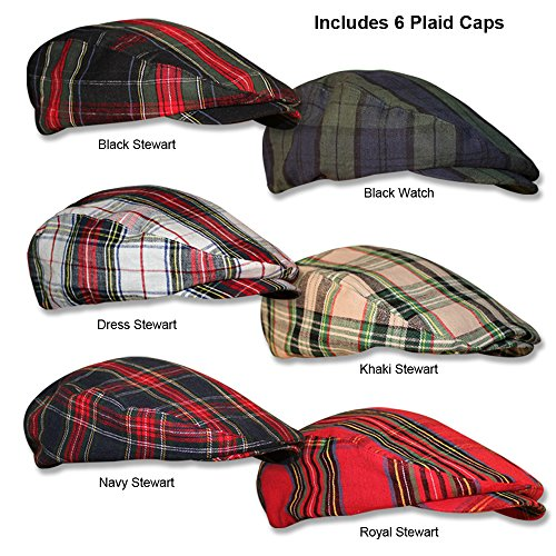 Ladies Plaid Golf Caps, newsboy Style In 6 Various Patterns by GolfKnickers.com … by Golf Knickers