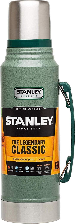 Stanley The Legendary Classic Hammertone Doble Pared De Aislamiento Al Vacío Prueba De Fugas Apto Para El Lavavajillas Naturalmente Libre De Bpa, 18/8 Acero Inox, Verde, 1L