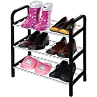Shoe Rack 3 Tier Stand Organizer Storage Shelf for 6 Pairs Shoes Stand Easy Assembly No Need Tools Space Saving 16.5'' X 7.5'' X 17.2'' / 42 X 19 X 44 cm (L x W x H) by OTO