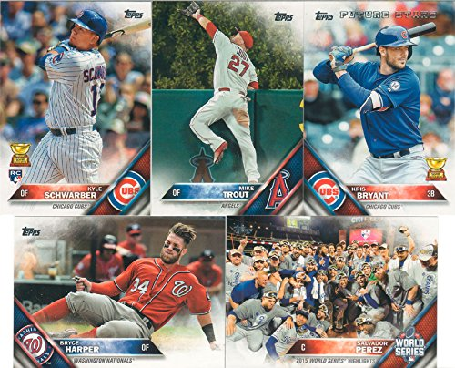 2016 Topps MLB Baseball Series One Complete Mint Hand Collated 350 Card Set That Is Loaded with Your Favorite Stars