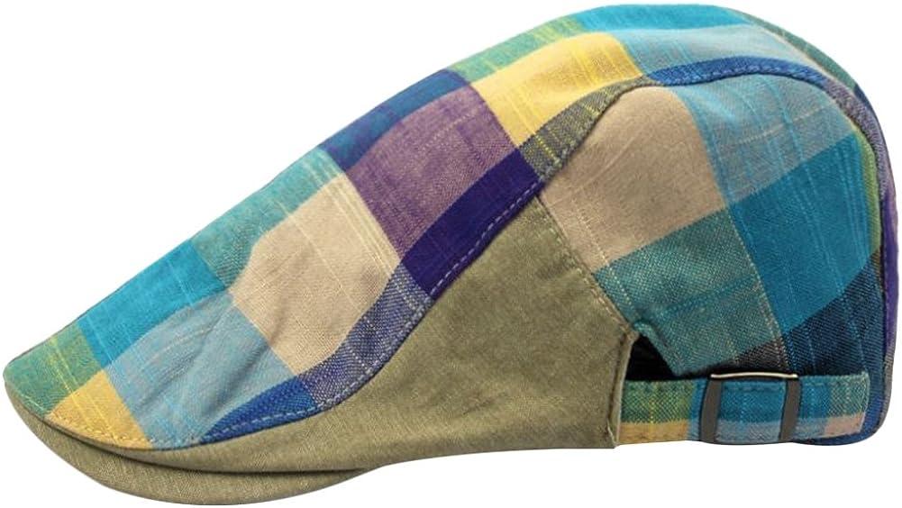 Wansan Men/'s Newsboy Flat Ivy Caps Gatsby Cabbie Hats Cotton Adjustable Driving Winter Hat Colorful