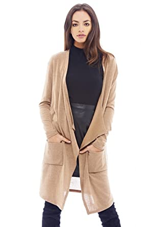 AX Paris Women's Long Waterfall Cardigan at Amazon Women's ...