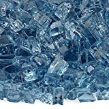 American Fireglass 10-Pound Fire Glass with Fireplace Glass and Fire Pit Glass, 1/4-Inch, Arctic Blue