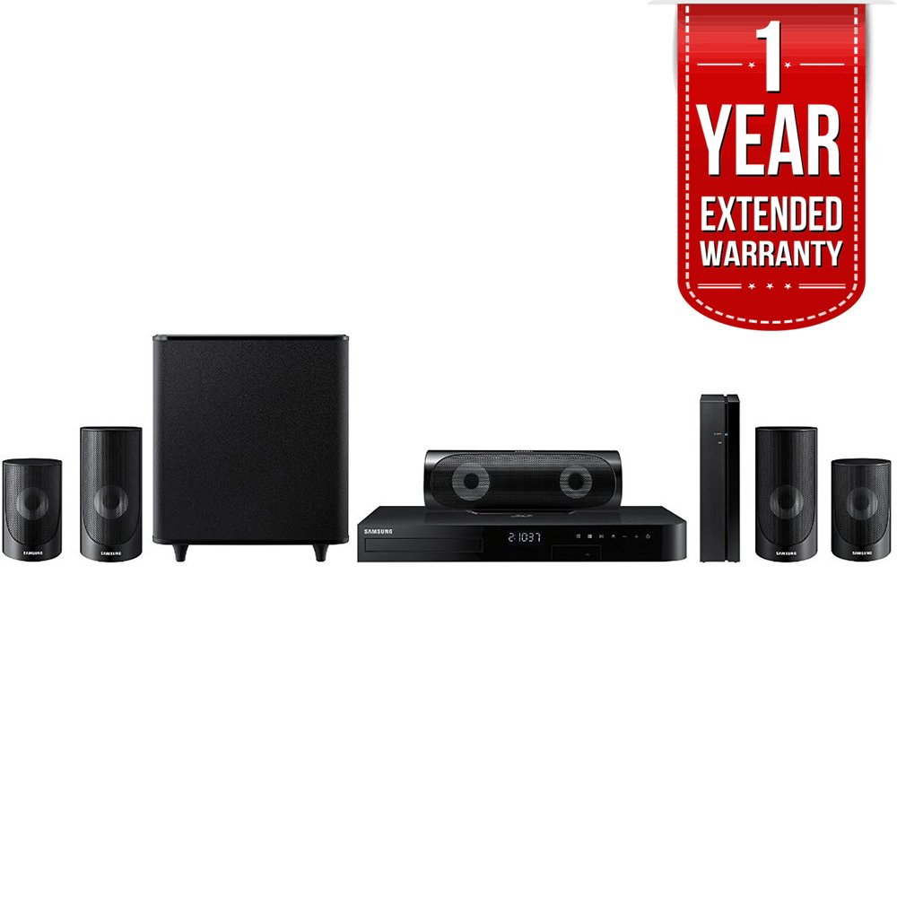 Samsung 5.1ch 1000-Watt 3D Smart Blu-ray Home Theater System w/ Bluetooth (HT-J5500W) with 1 Year Extended Warranty by Samsung