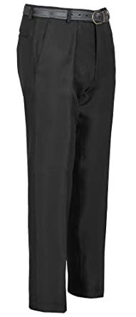 Mens Formal Trousers Casual For Business Office Work Belted Everpress Pants