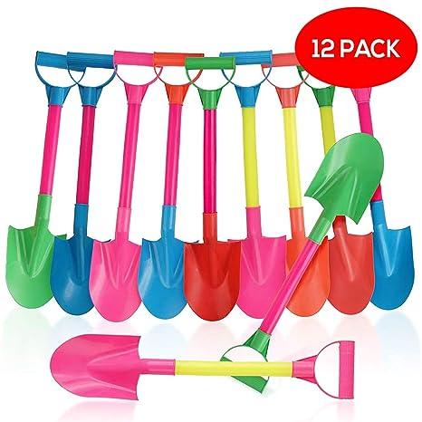 Bramble Juego de Playa con 12 Palas de Plástico en Colores Surtidos - Perfecta para Niño
