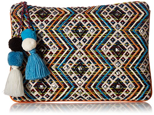 Steve Madden Womens Handbags Shaye Beaded Embroidered Clutch ()